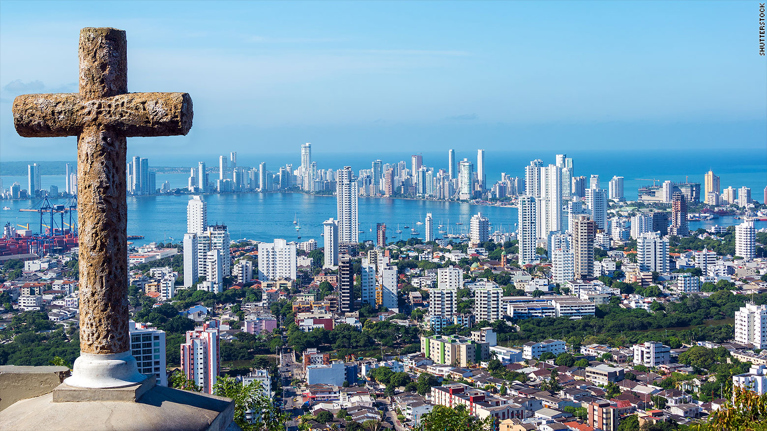 The skyline of Cartagena, Colombia. (Photo credit: http://money.cnn.com)
