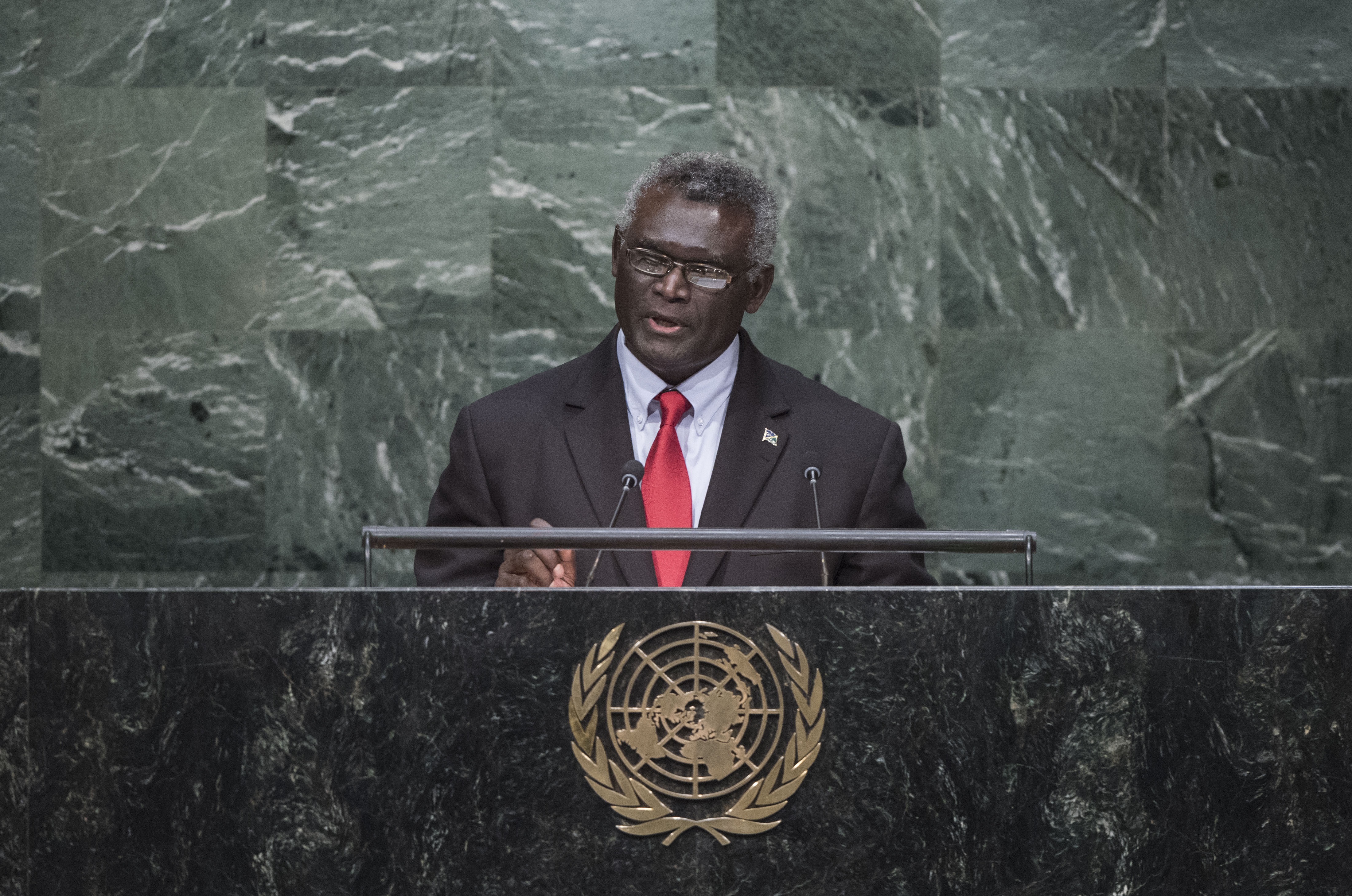 Prime Minister Manasseh Sogavare of the Solomon Islands (photo credit: United Nations Photo/flickr)