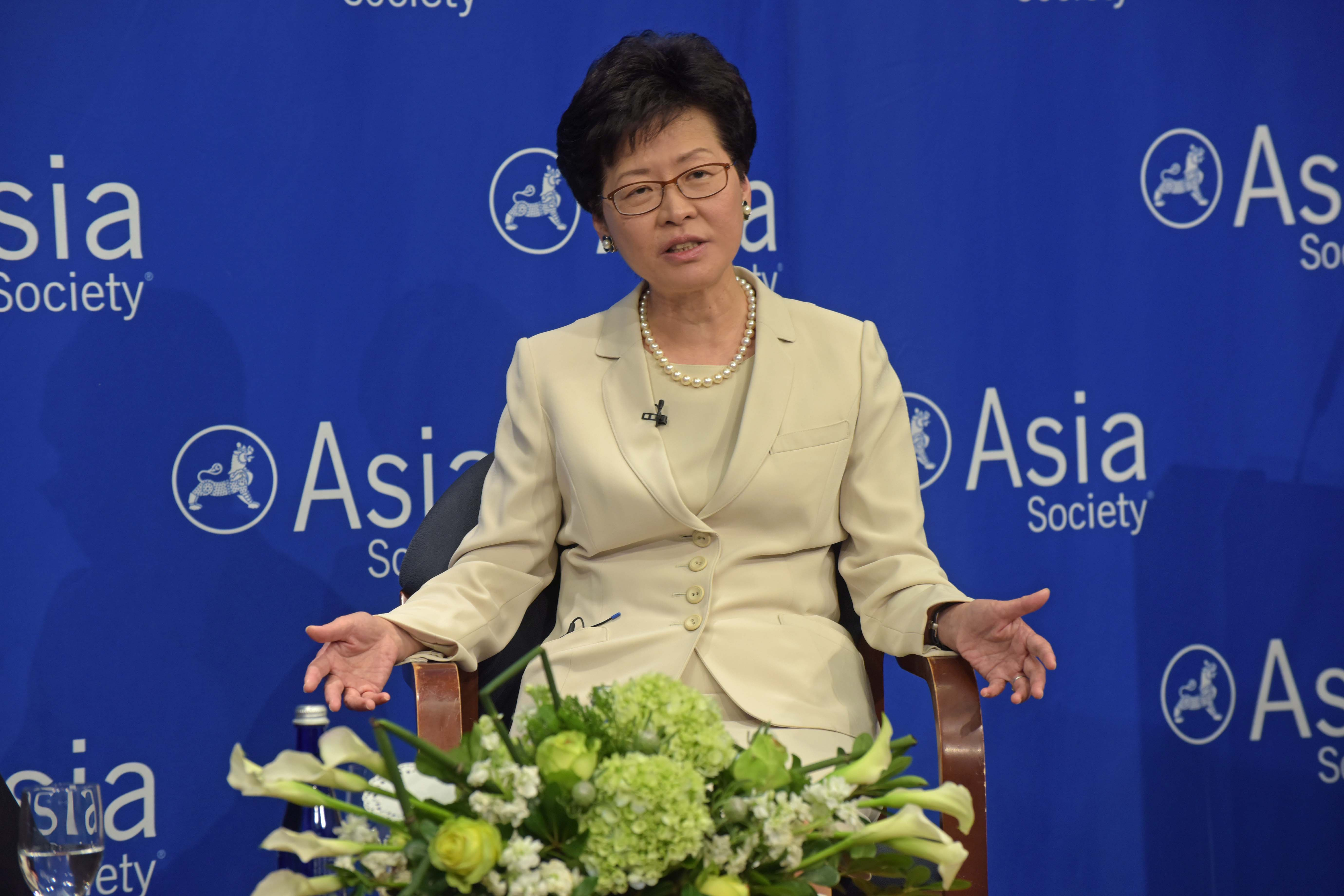 Chief Secretary of Hong Kong Carrie Lam (photo credit: Asia Society/flickr)