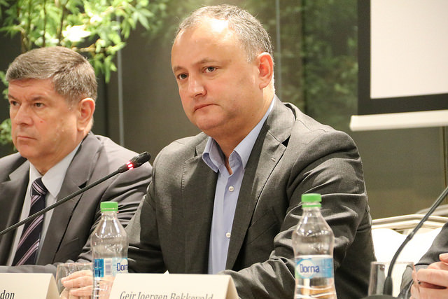 Igor Dodon, Moldova's president (Photo credit: Flickr)