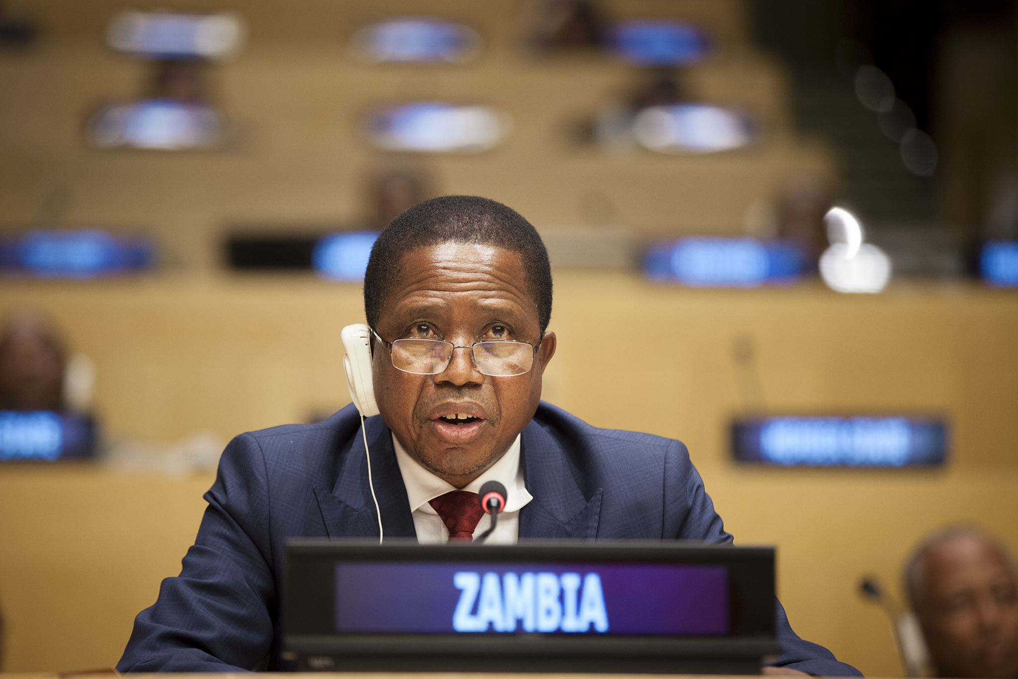Zambian President Edgar Lungu (photo credit: United Nations Photo/flickr)