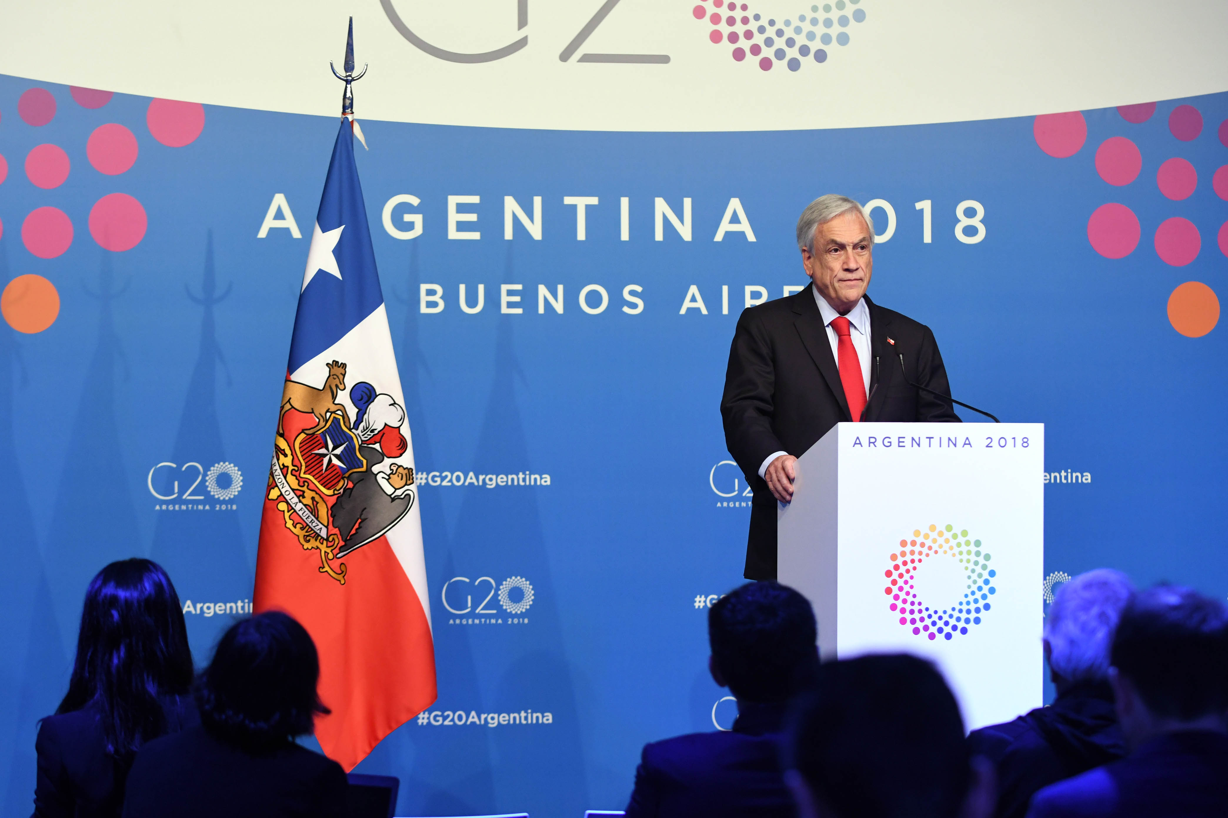 President Sebastián Piñera of Chile (photo credit: G20 Argentina/flickr)