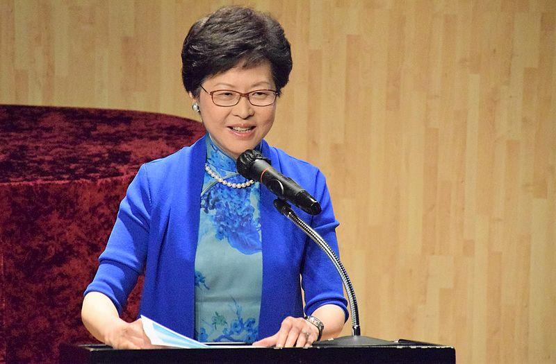 Chief Executive Carrie Lam of Hong Kong (photo credit: Prachatai/flickr)