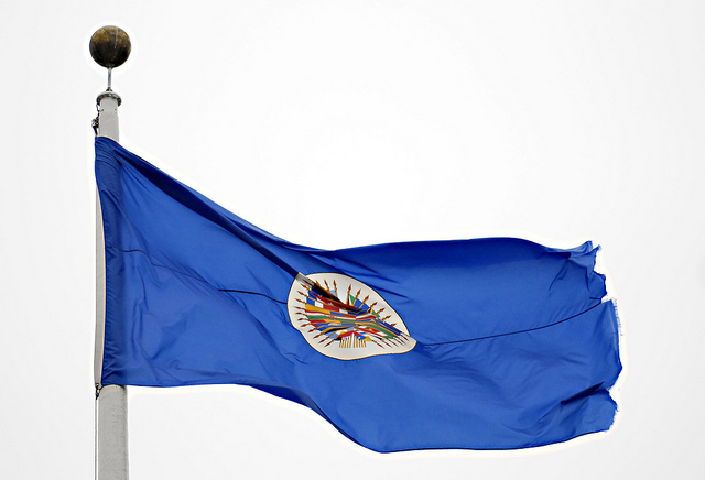 Flag of OAS (Photo credit: Juan Manuel Herrera / OAS / Flickr)