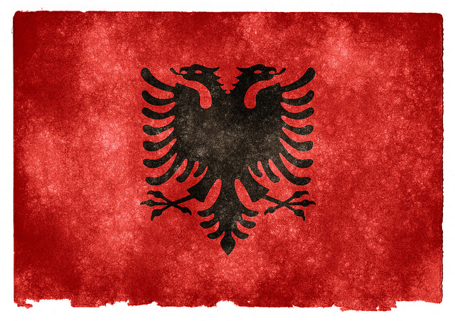 The flag of Albania (Photo credit: Flickr)