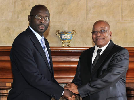 President George Weah of Liberia (photo credit: GovernmentZA/flickr)