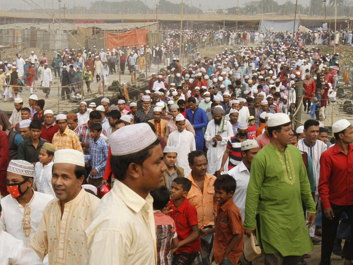 Millions of Muslims gathered for the three-day religious event in the centre of Dhaka in January this year (photo credit: Reuters)