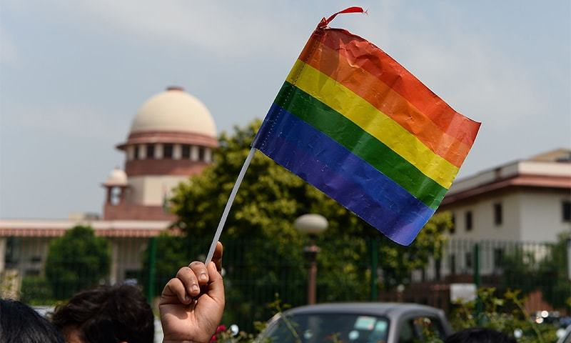 India's LGBT community celebrate the Supreme Courts decision (photo credit: AFP)