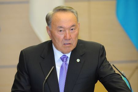 President of Kazakhstan Nursultan Abishevich Nazarbayev (photo credit: Reuters/David Mareuil/Pool)