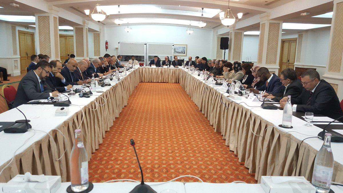 Meeting of the Political Dialogue Committee (photo credit: Libya Observer)