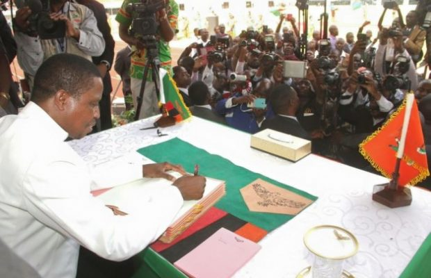 Preident Lungu assenting to last round of extensive amendments (photo credit: The Mast)