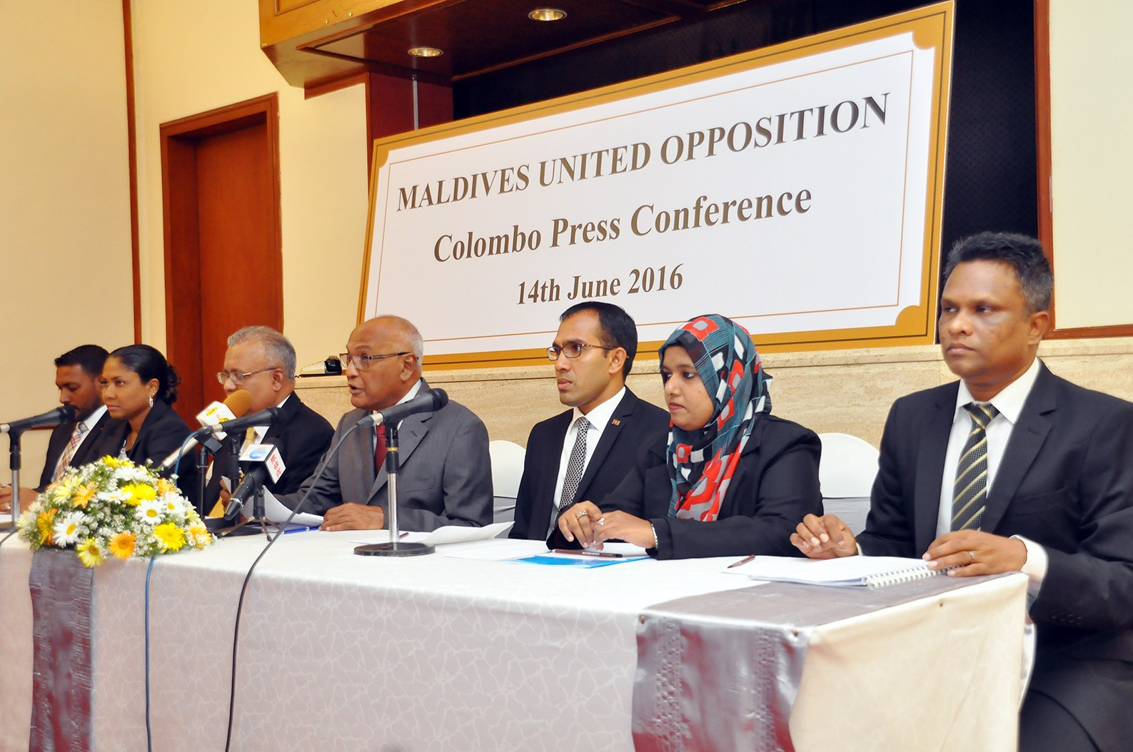 Maldives Opposition Parties announce coalition in 2016 (photo credit: Colombo Gazette)