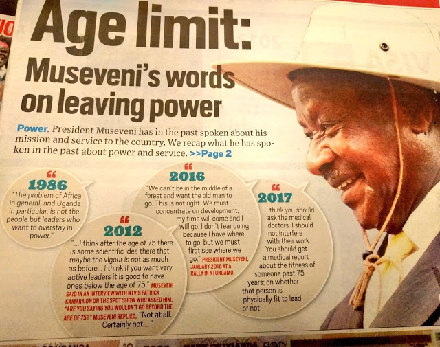 Museveni on overstaying (photo credit: Martha Leah Nangalama)