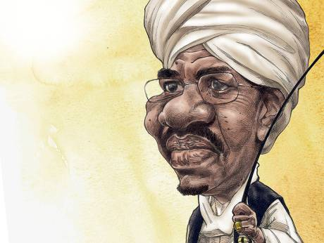 Caricature of President Omer al-Bashir (photo credit: Ramachandra Babu@Gulf News)