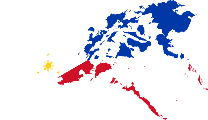 Philippines Flag overlapping on its map