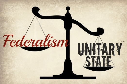 An illustration comparing federalism with unitary structures (Photo credit:  FreedomWorks)