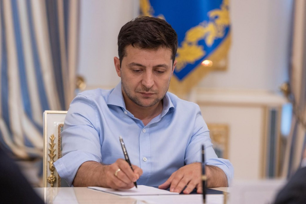 President Zelensky signs amendment abolishing immunity (photo credit: Ukrainian presidency)