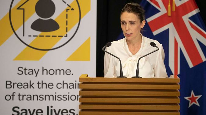 Prime Minister Jacinda Ardern gives press conference (photo credit: NZ Herald)