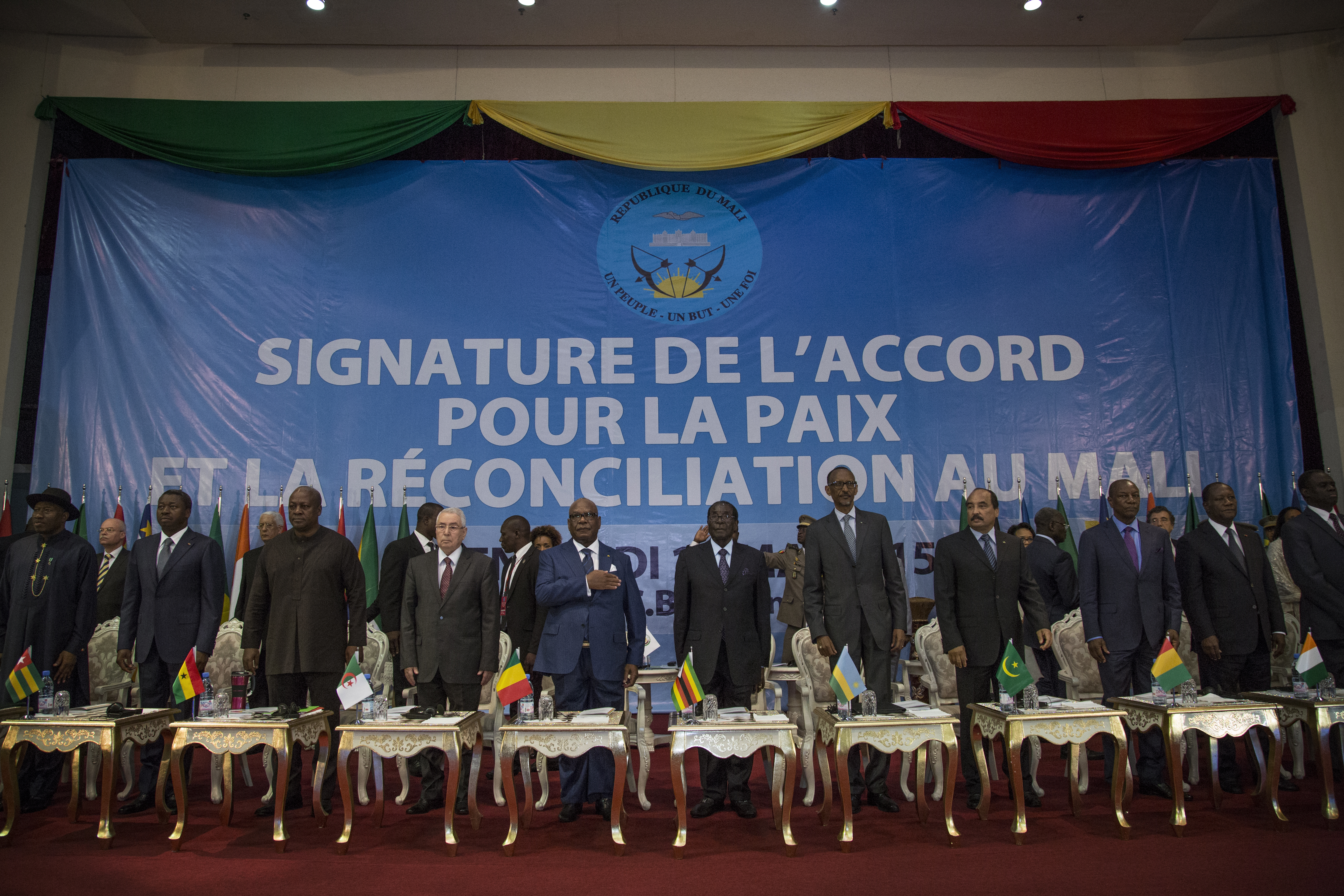 African leaders attend signing ceremony of the Peace Agreement in Mali (photo credit: UN Photo/Marco Dormino/Flickr)