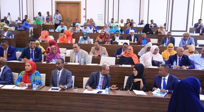 Lower House of Somalian Parliament (photo credit: Garowe Online)