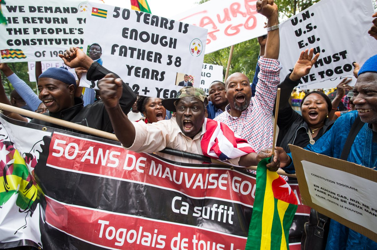 Togolese Protesters demand end to Gnassingbe's rule (photo credit: Africa Portal)