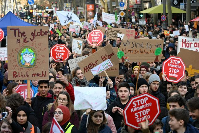 Young people in Germany demonstrate against climate change (photo credit: DPA)