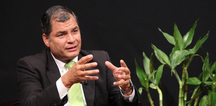 Seven years after enacting a new Constitution, Rafael Correa seeks a new reform to solidify his autocratic rule. (photo credit: Ecuavisa)