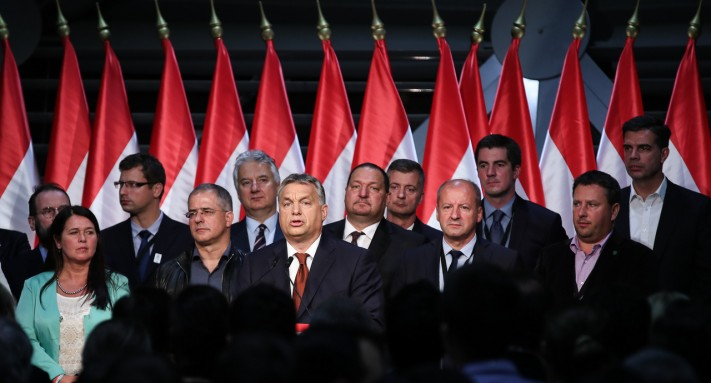 Viktor Orbán speaks after his referendum was declared invalid by the National Election Office (photo credit: Hungarian Free Press)