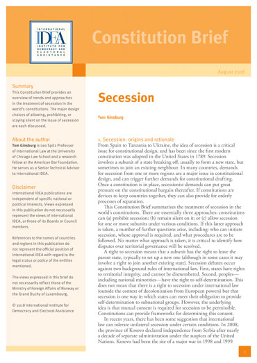 Secession: Constitution Brief