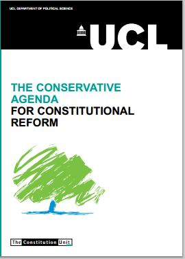 UK: The Conservative Agenda for Constitutional Reform