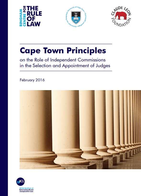 Cape Town principles on the role of independent commissions in the selection and appointment of judges