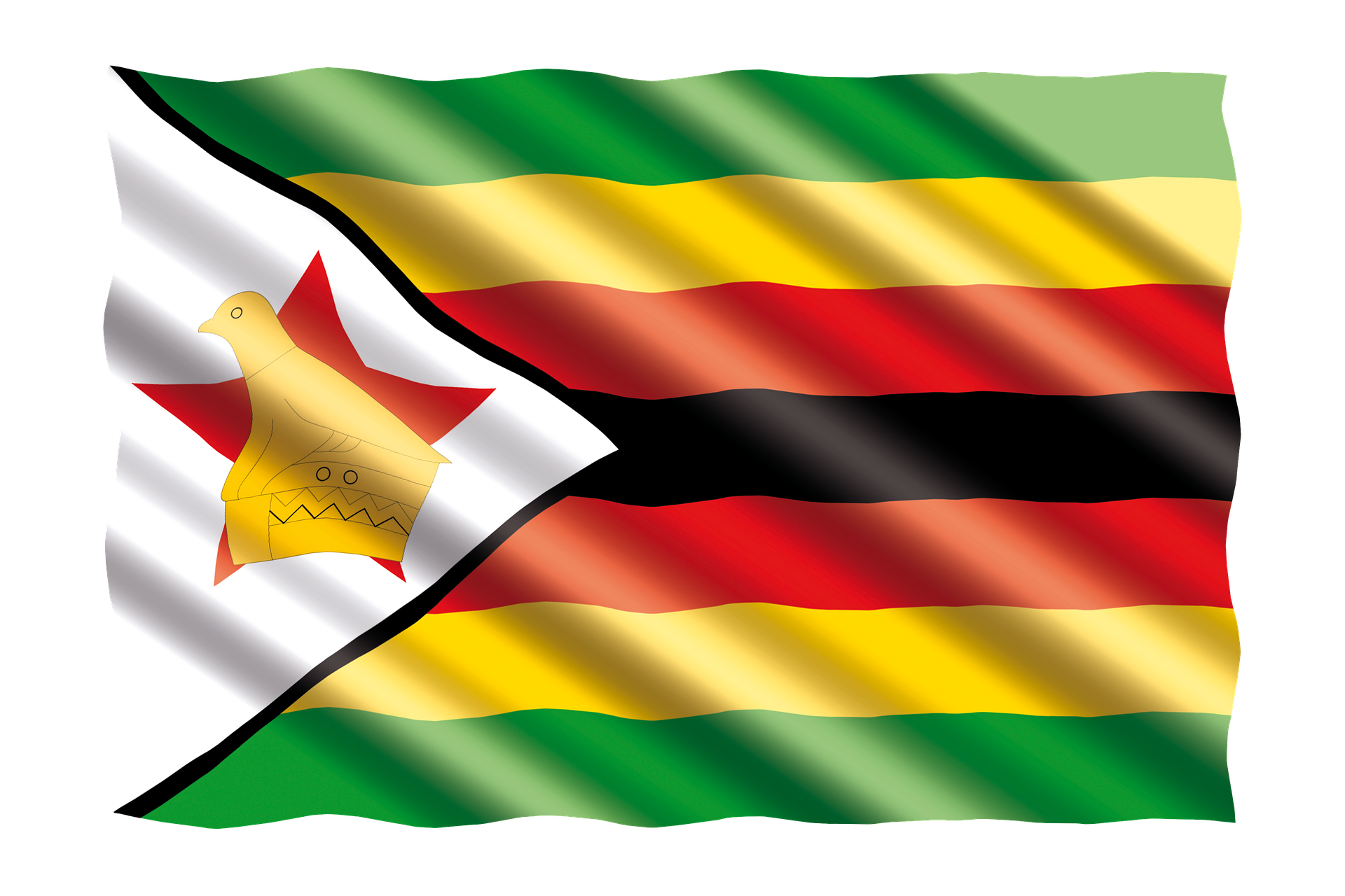 Flag of Zimbabwe (photo credit: pixabay)