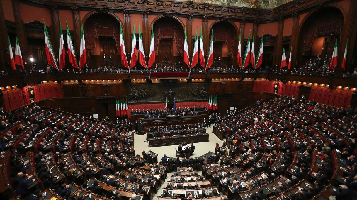 Lower House of Italian Parliament (photo credit: Reuters)