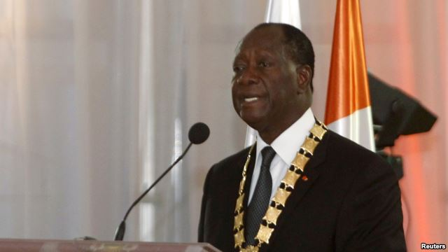 Ivory Coast President Alassane Ouattara (photo credit: VOA)