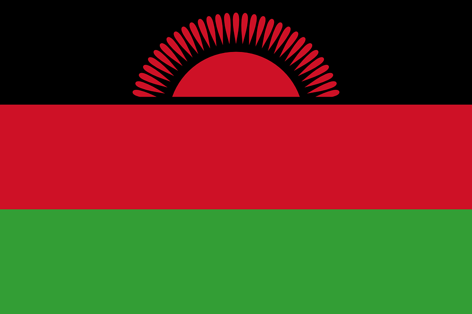 Flag of Malawi (photo credit: pixabay)