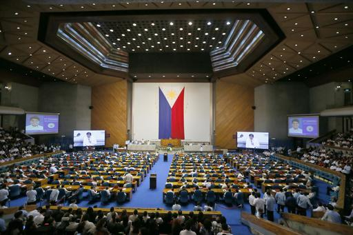 Philippine Congress during President Rodrigo Duterte state of the nation address (photo credit: AP)