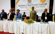 President Lungu - second from right - launches the National Dialogue (credit: The Mast)