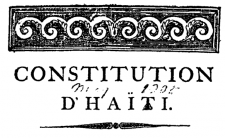 Cover page of the Haitian Constitution (photo credit: Traveling Haiti)