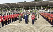 The 2016 swearing-in ceremony was the fifth since President Museveni took power in 1986 (photo credit: BBC)