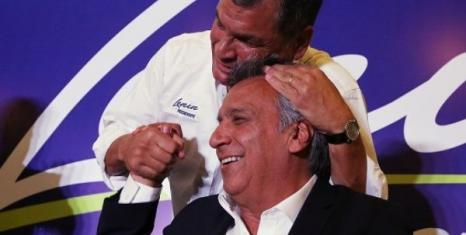 President Lenin Moreno with ex-president Rafael Correa during the election campaign (Photo credit: Ecuador Presidency)