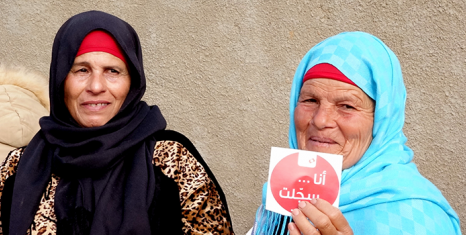 Tunisian Female Ambassadors educated and mobilized rural women to register and vote in the local elections (photo credit: IFES)