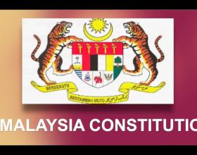 Constitution of Malaysia with the coat of arms (photo credit: Nandar Bhone Zaw)