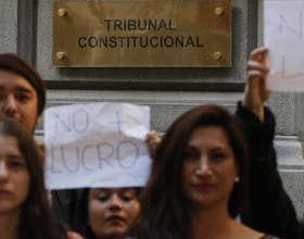 Students Protest decisions of the Constitutional Court (phto credit: El Mercurio)