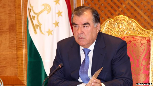Tajik President Emomali Rahmon (photo credit: Radio Free Europe)