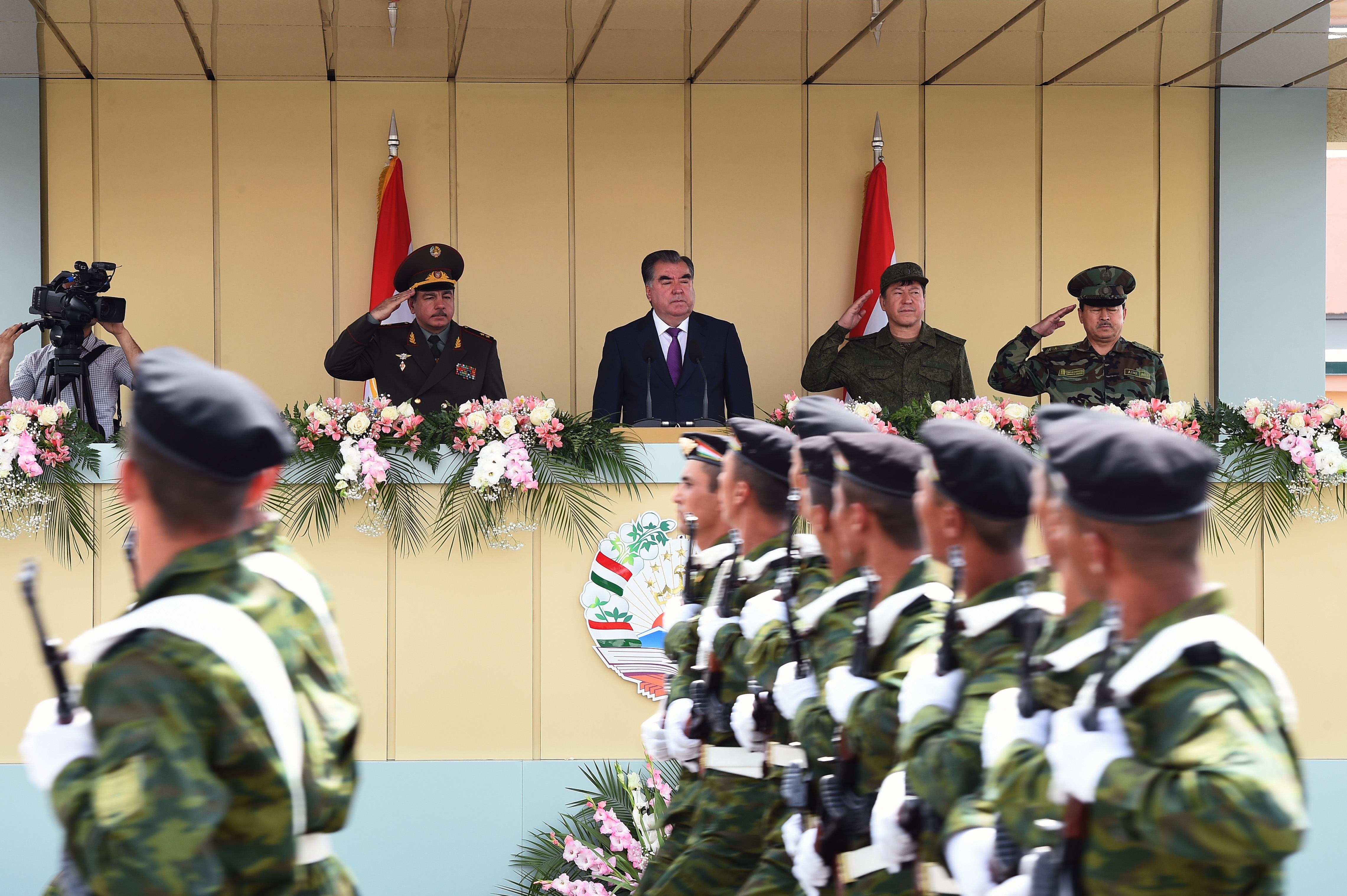 President Rahmon inaugurates a newly-founded special service military brigade (photo credit: Media Services of the President of the Republic of Tajikistan)
