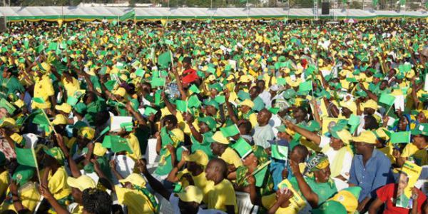 Tanzanians celebrating the draft constitution (photo credit: AWC)
